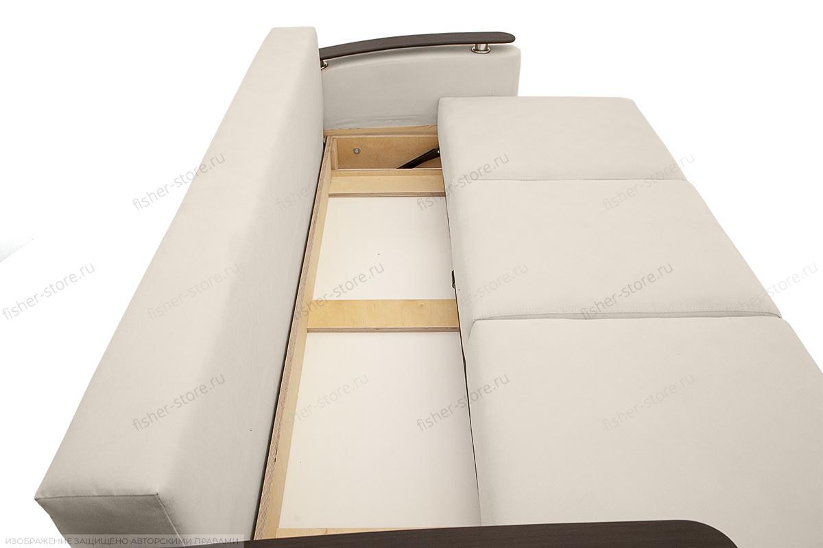 Прямой диван Джерси с опорой №5 Maserati White Ящик для белья