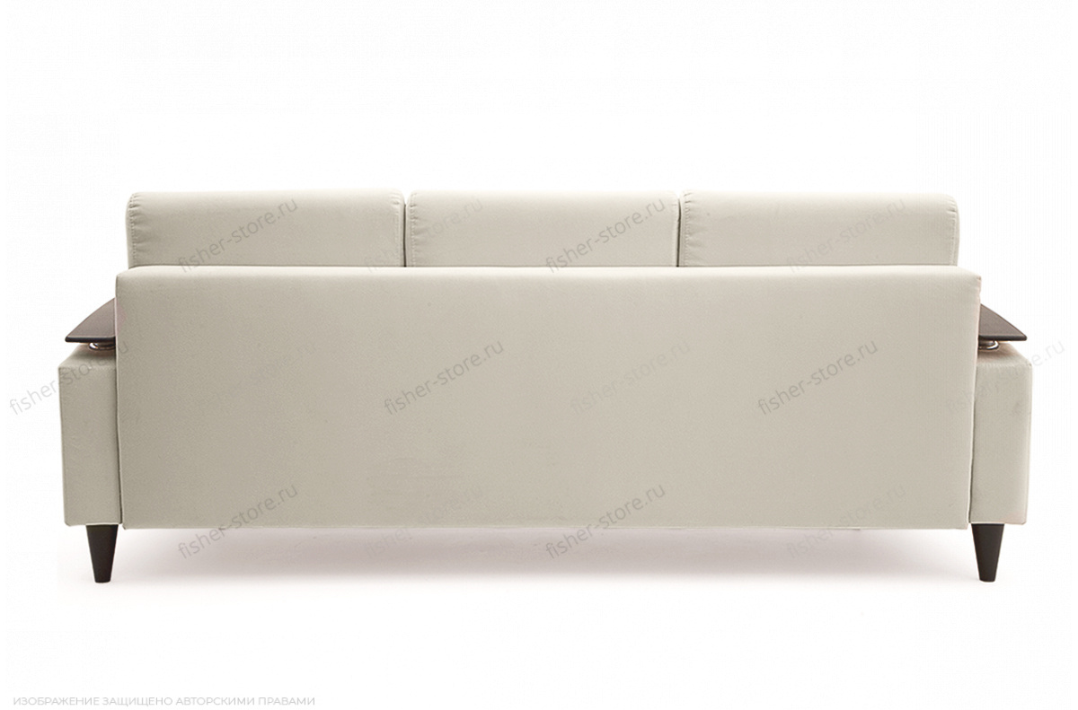 Прямой диван Джерси с опорой №5 Maserati White Вид сзади