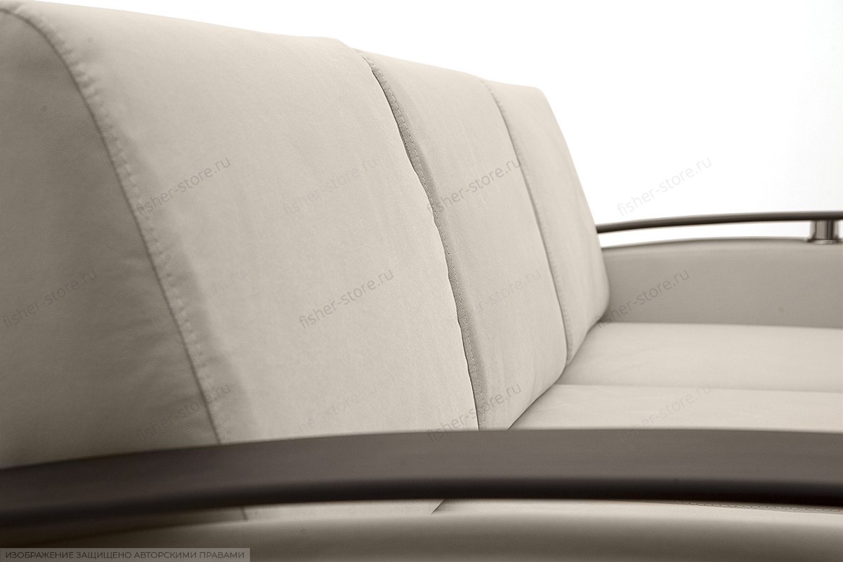 Прямой диван Джерси с опорой №5 Maserati White Текстура ткани