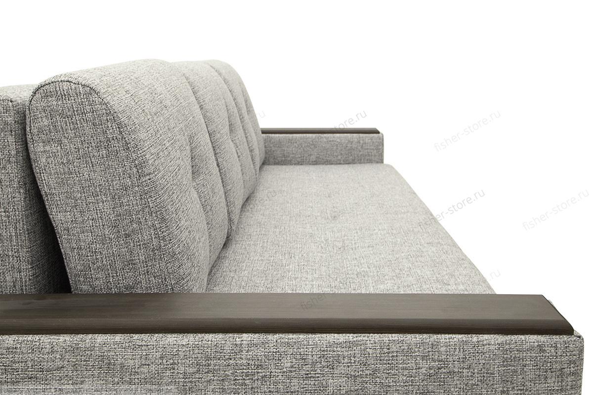 Прямой диван еврокнижка Атланта Рогожка Серая + Сонтекс Блэк Текстура ткани