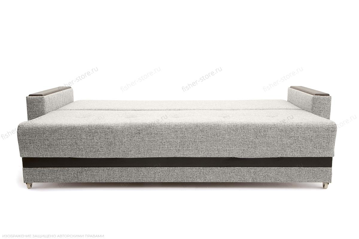 Прямой диван еврокнижка Атланта Рогожка Серая + Сонтекс Блэк Спальное место