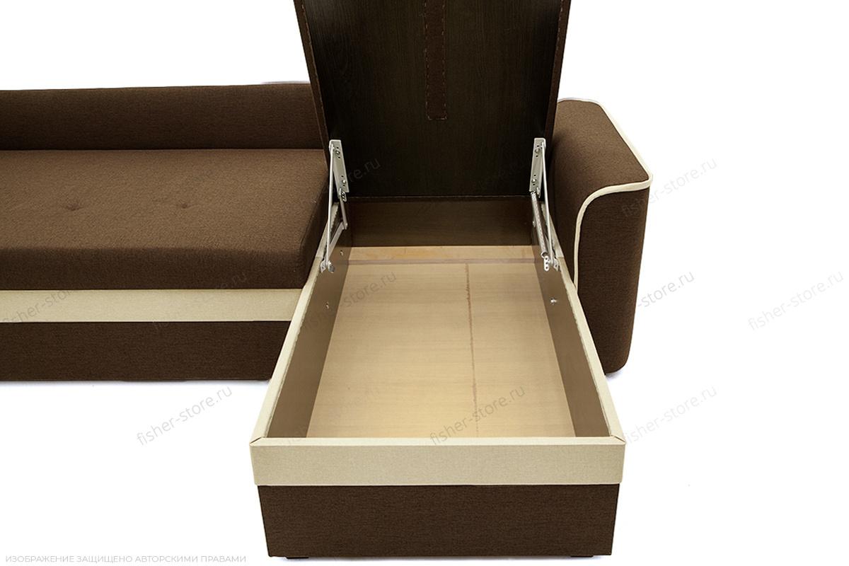 Угловой диван Фьюжн Dream Brown Ящик для белья