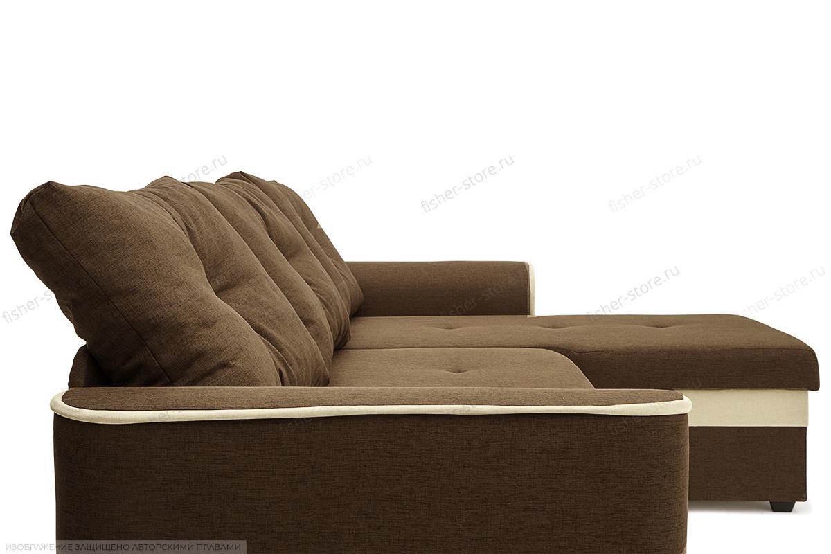 Угловой диван Фьюжн Dream Brown Текстура ткани