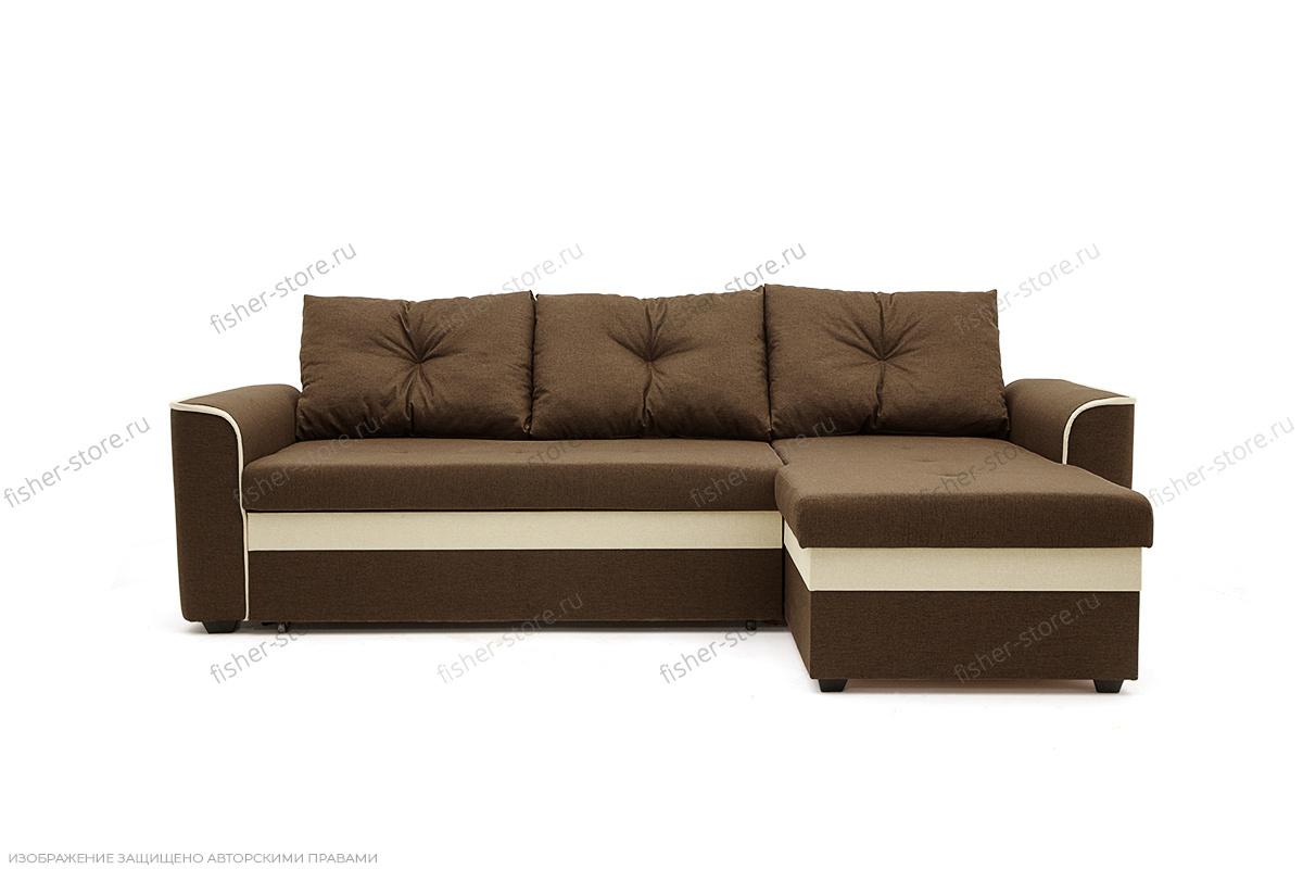 Угловой диван Фьюжн Dream Brown Вид спереди