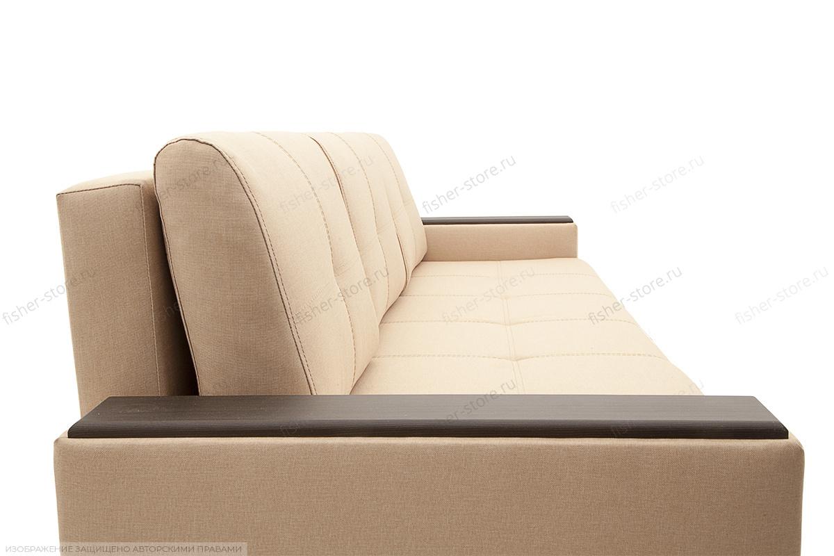 Светлый диван Атланта со столом Savana Camel + Sontex Umber Текстура ткани