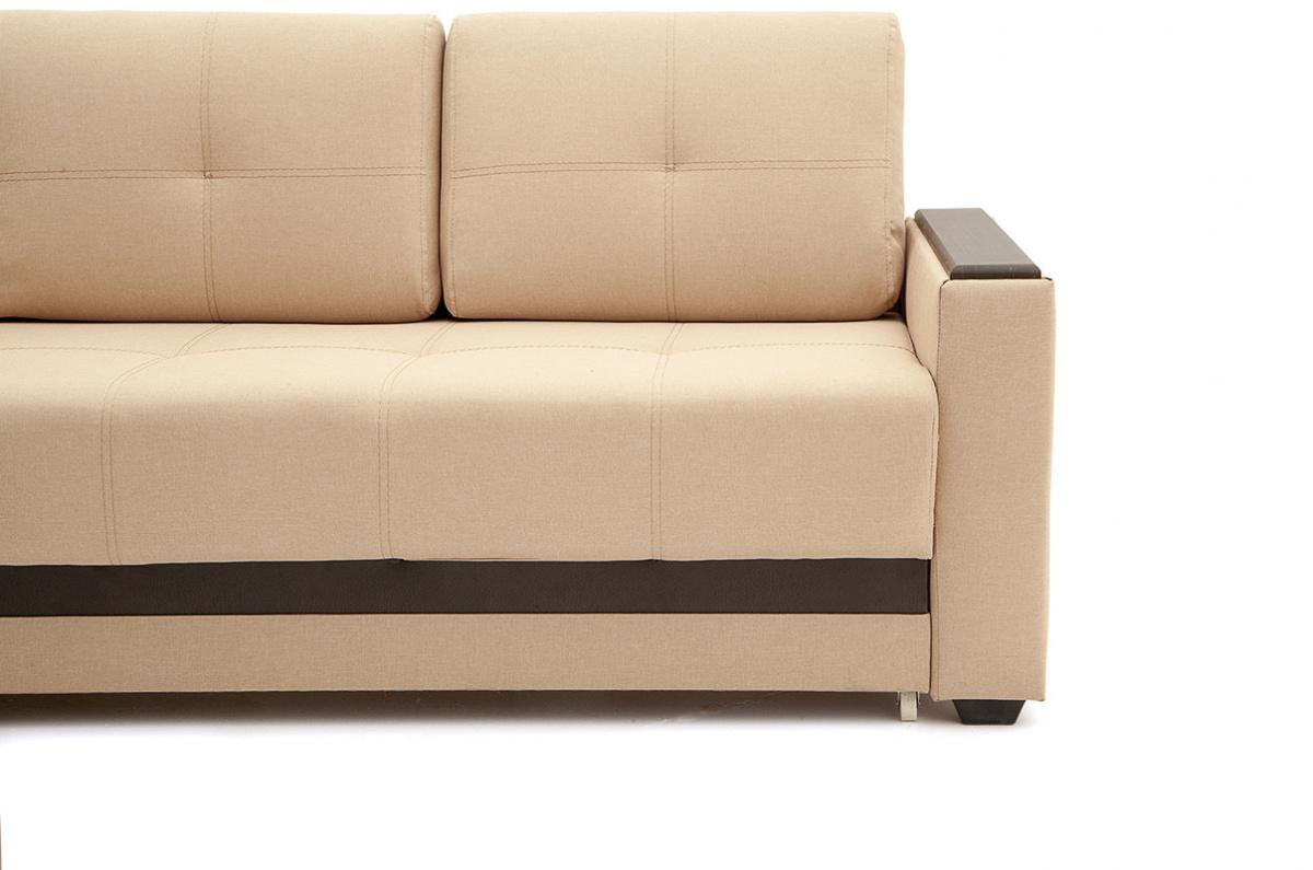 Светлый диван Атланта со столом Savana Camel + Sontex Umber Ножки