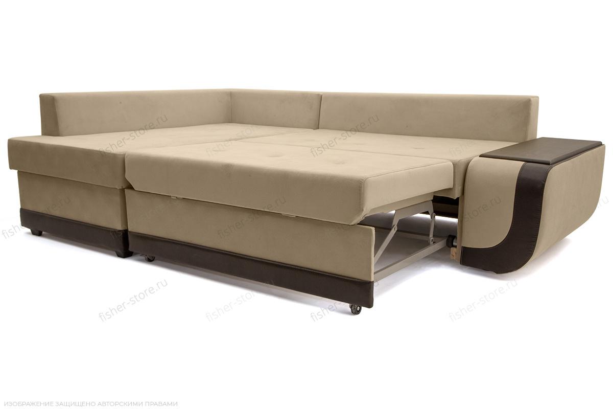 Угловой диван Нью-Йорк-2 Maserati Beige + Sontex Umber Спальное место
