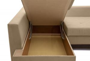 Угловой диван Нью-Йорк-2 Maserati Beige + Sontex Umber Ящик для белья