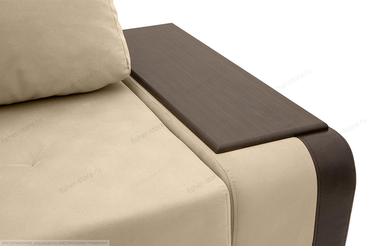Угловой диван Нью-Йорк-2 Maserati Beige + Sontex Umber Подлокотник