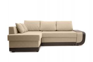 Угловой диван Нью-Йорк-2 Maserati Beige + Sontex Umber Вид спереди
