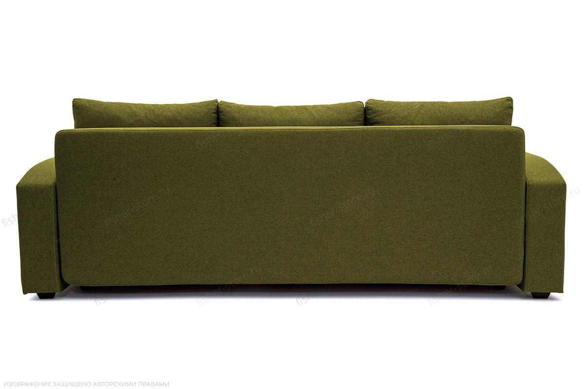 Прямой диван Селена Рогожка Savana Green Вид сзади