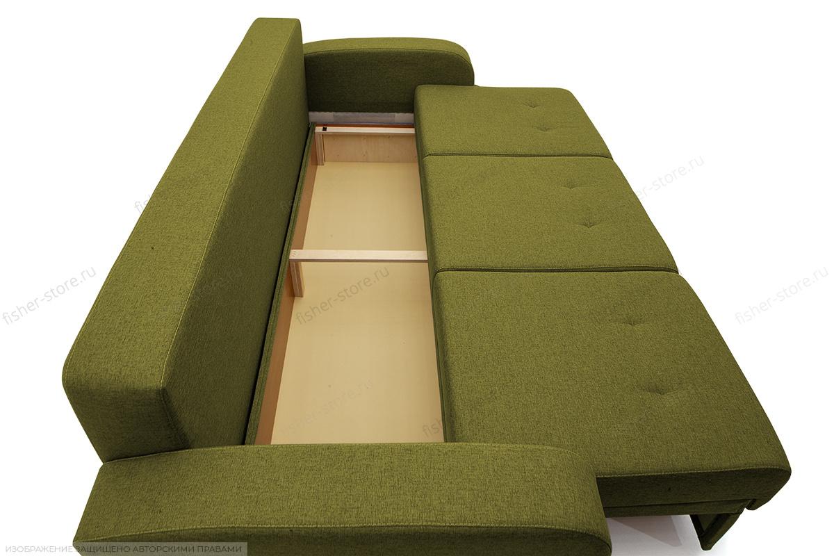Прямой диван Селена Рогожка Savana Green Ящик для белья