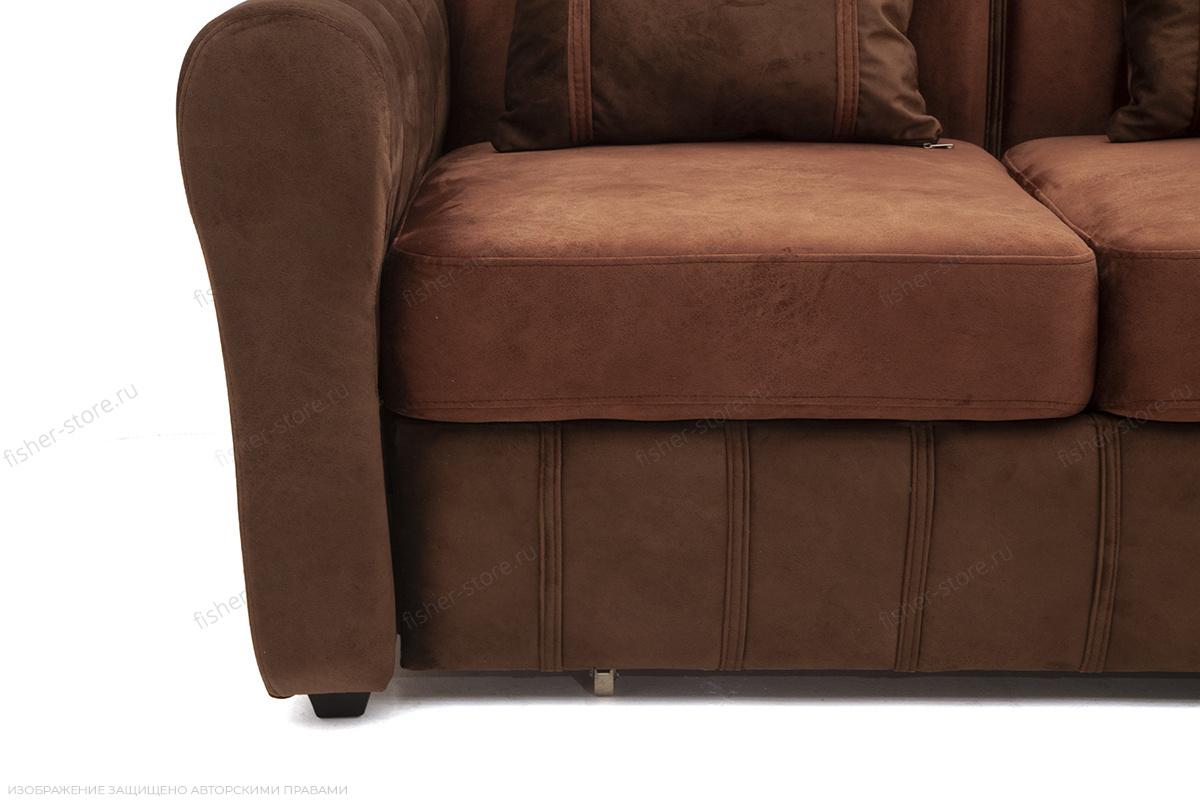 Угловой диван Престиж-8 Kengoo NUT + Kengoo Chocolate Ножки