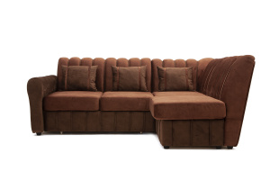 Угловой диван Престиж-8 Kengoo NUT + Kengoo Chocolate Вид спереди