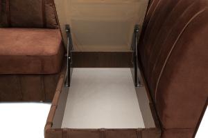 Угловой диван Престиж-8 Kengoo NUT + Kengoo Chocolate Ящик для белья
