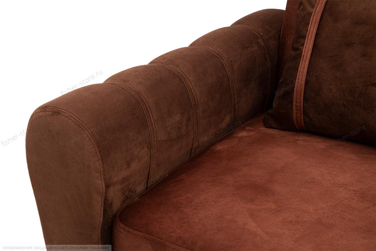 Угловой диван Престиж-8 Kengoo NUT + Kengoo Chocolate Подлокотник