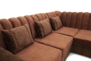 Угловой диван Престиж-8 Kengoo NUT + Kengoo Chocolate Подушки