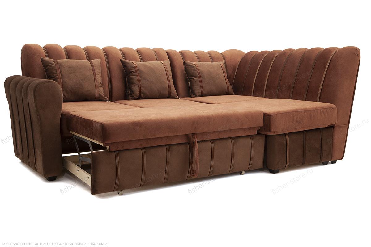 Угловой диван Престиж-8 Kengoo NUT + Kengoo Chocolate Спальное место