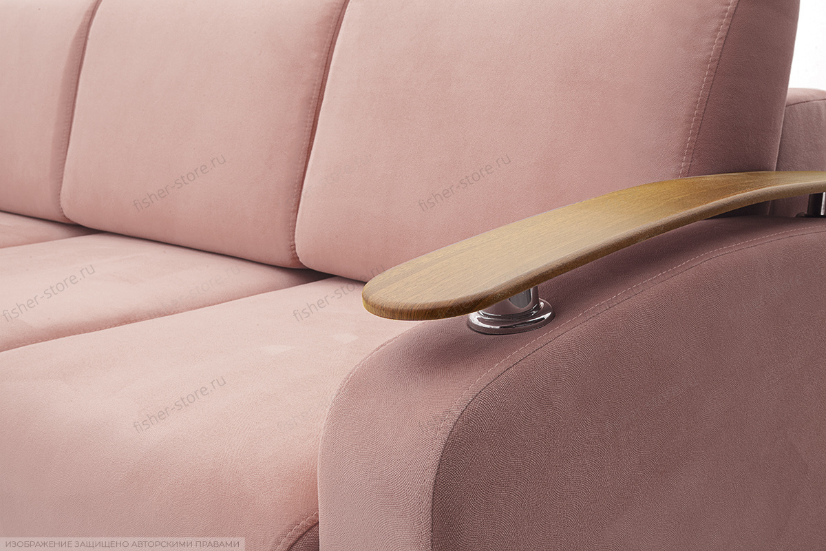 Прямой диван Джерси-3 с опорой №6 Maserati Light Violet Подлокотник