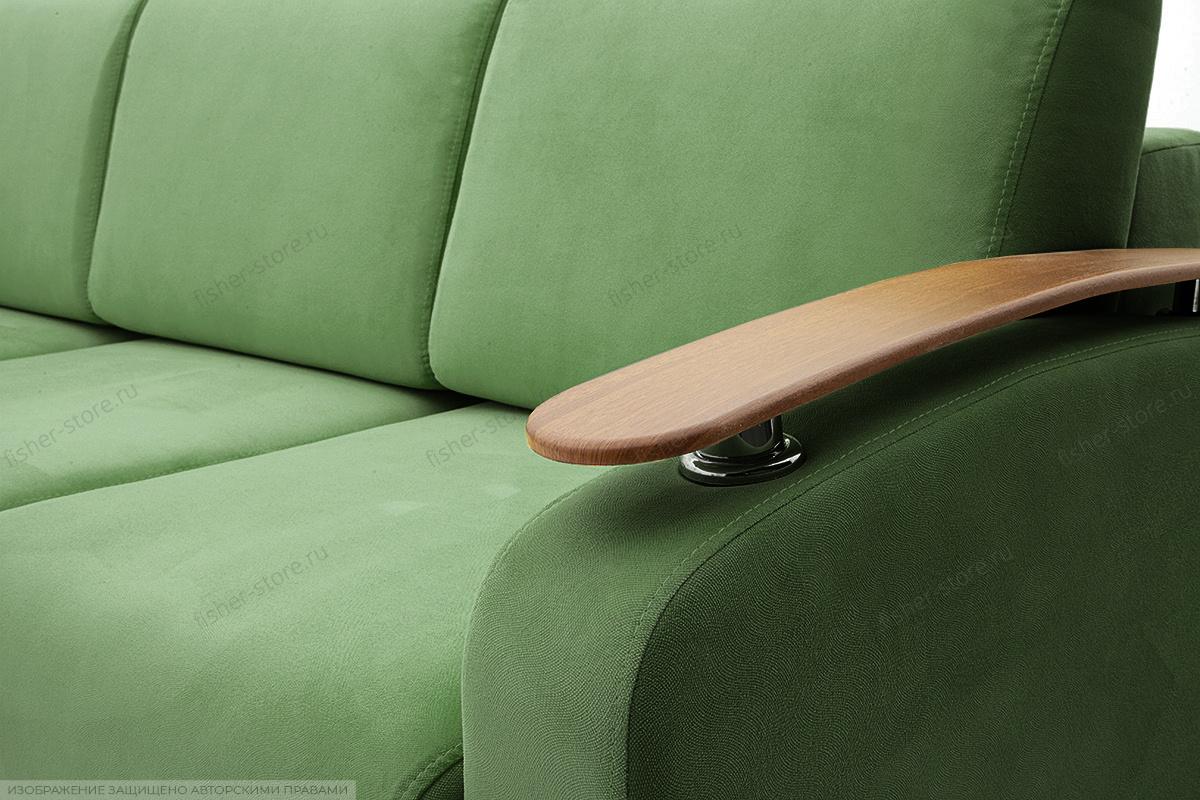 Прямой диван Джерси-3 с опорой №6 Maserati Green Подлокотник