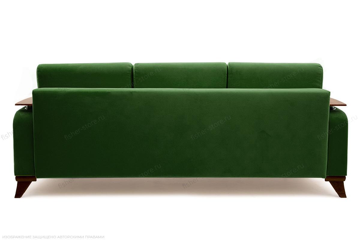 Прямой диван Джерси-3 с опорой №6 Maserati Green Вид сзади