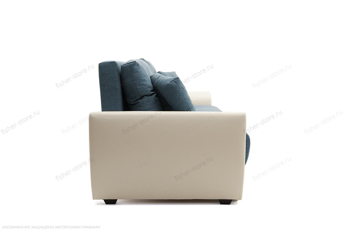 Прямой диван Винтаж Dream Blue + Sontex Milk Вид сбоку