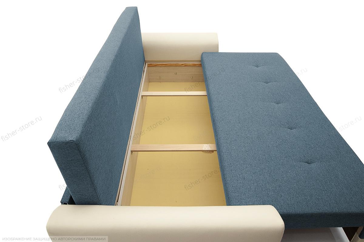 Прямой диван Винтаж Dream Blue + Sontex Milk Ящик для белья