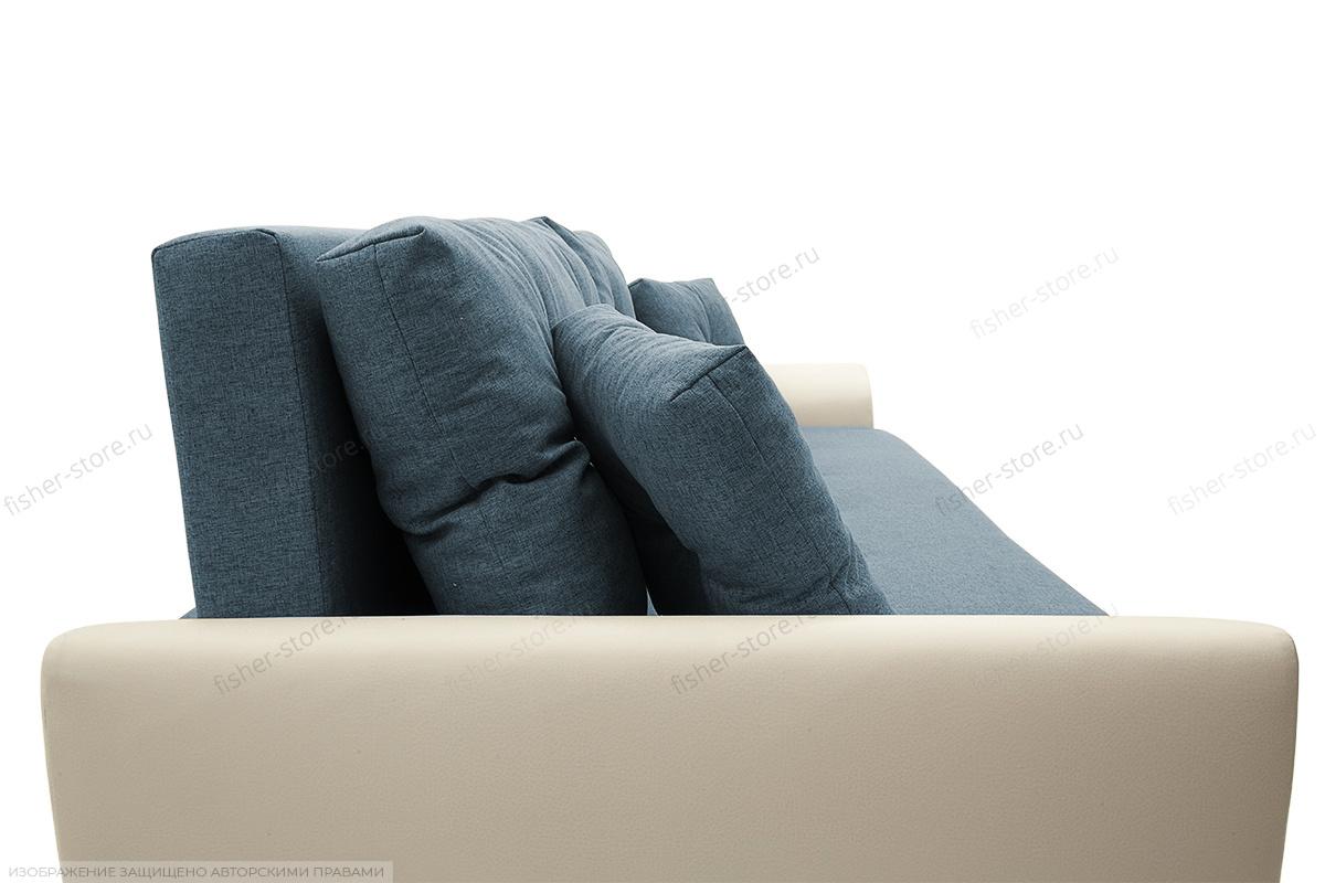 Прямой диван Винтаж Dream Blue + Sontex Milk Текстура ткани