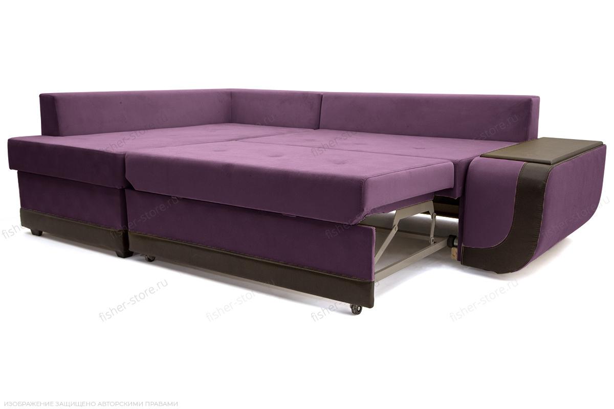 Угловой диван Нью-Йорк-2 Maserati Purple + Sontex Umber Спальное место