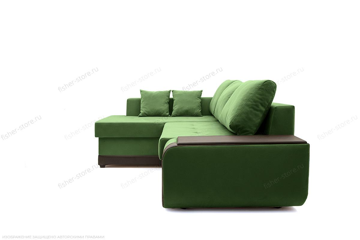 Угловой диван Нью-Йорк-2 Maserati Green + Sontex Umber Вид сбоку