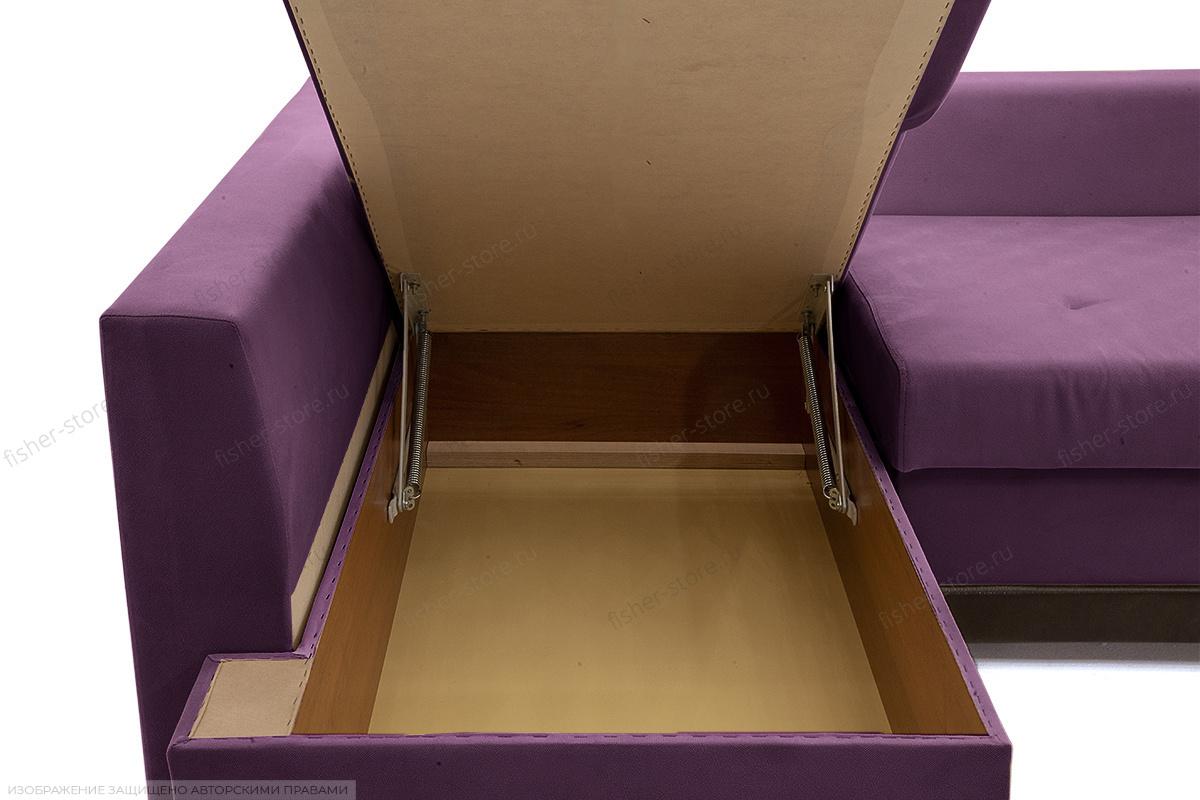 Двуспальный диван Нью-Йорк-2 Maserati Purple + Sontex Umber Ящик для белья