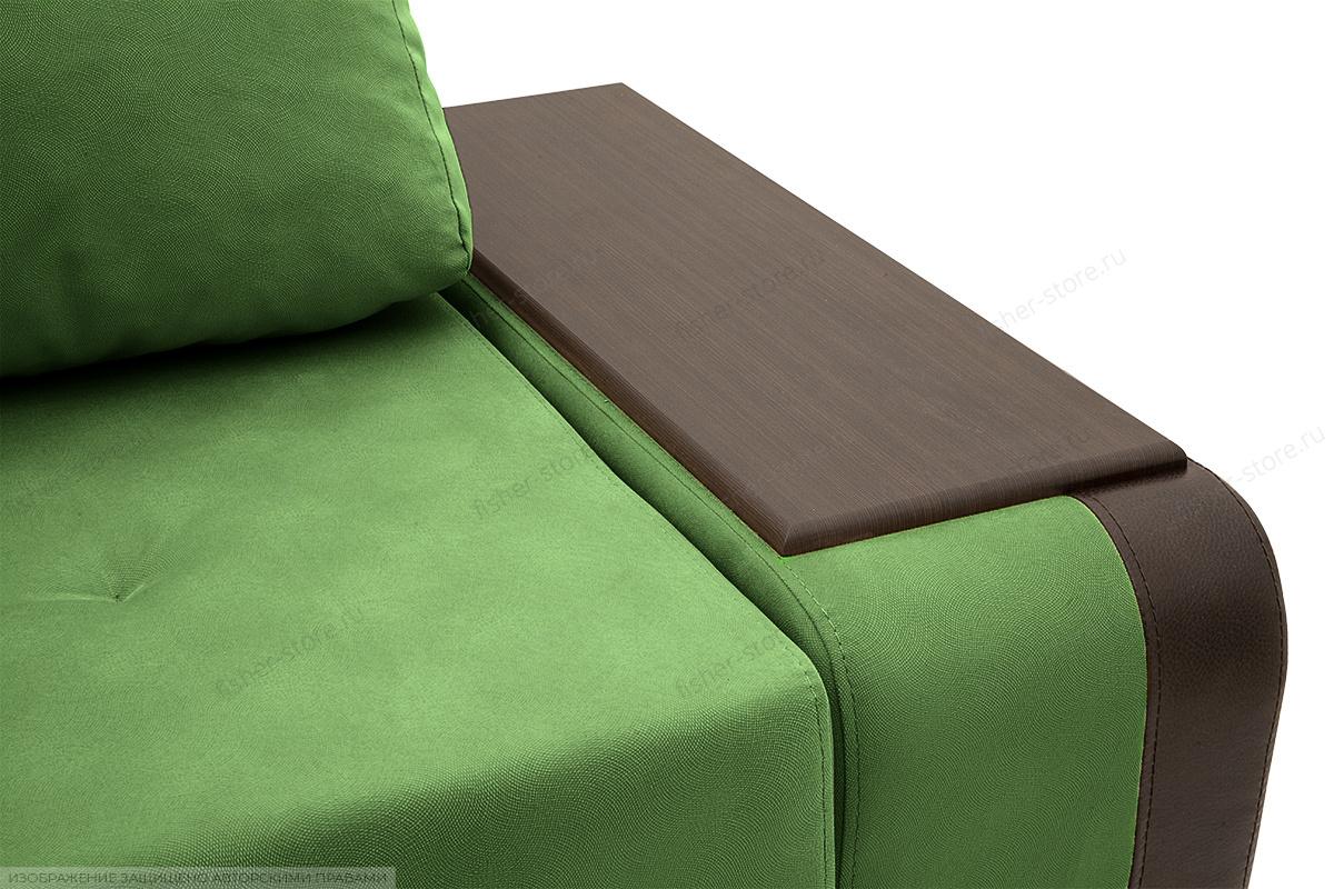 Угловой диван Нью-Йорк-2 Maserati Green + Sontex Umber Подлокотник