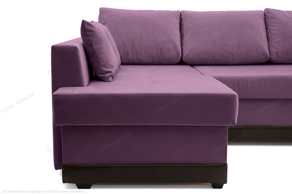 Угловой диван Нью-Йорк-2 Maserati Purple + Sontex Umber Ножки