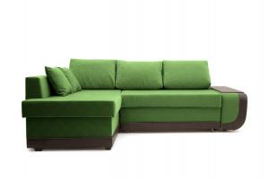 Угловой диван Нью-Йорк-2 Maserati Green + Sontex Umber Вид спереди
