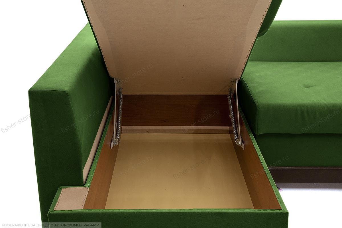 Угловой диван Нью-Йорк-2 Maserati Green + Sontex Umber Ящик для белья
