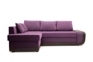 Угловой диван Нью-Йорк-2 Maserati Purple + Sontex Umber Вид спереди