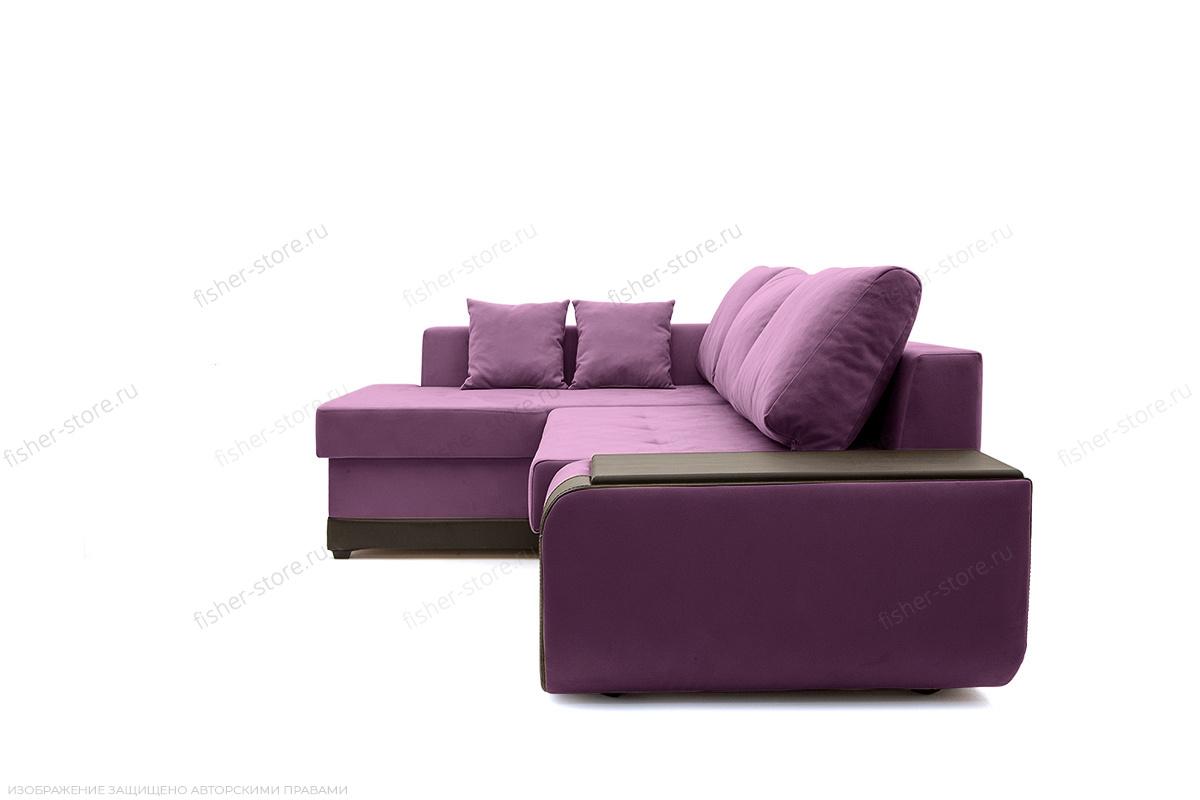 Угловой диван Нью-Йорк-2 Maserati Purple + Sontex Umber Вид сбоку