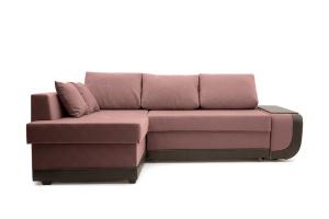 Угловой диван Нью-Йорк-2 Maserati Light Violet + Sontex Umber Вид спереди
