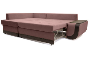 Угловой диван Нью-Йорк-2 Maserati Light Violet + Sontex Umber Спальное место