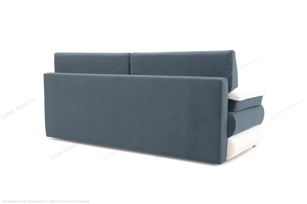 Прямой диван Фиджи Maserati Grey-blue + White Вид сзади
