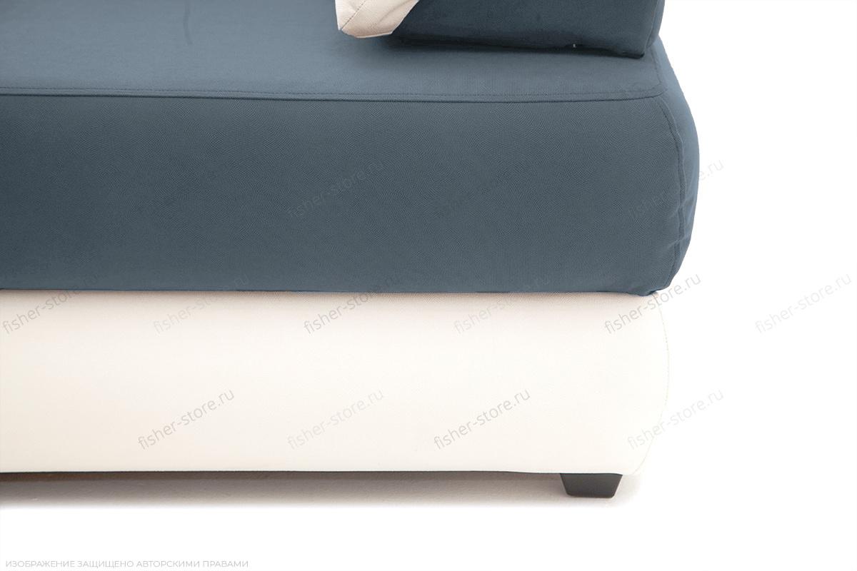 Прямой диван Фиджи Maserati Grey-blue + White Ножки