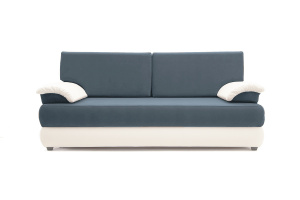 Прямой диван Фиджи Maserati Grey-blue + White Вид спереди