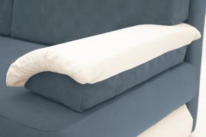 Прямой диван Фиджи Maserati Grey-blue + White Подлокотник