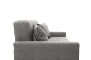 Прямой диван Этро люкс с опорой №3 Dream Grey Текстура ткани