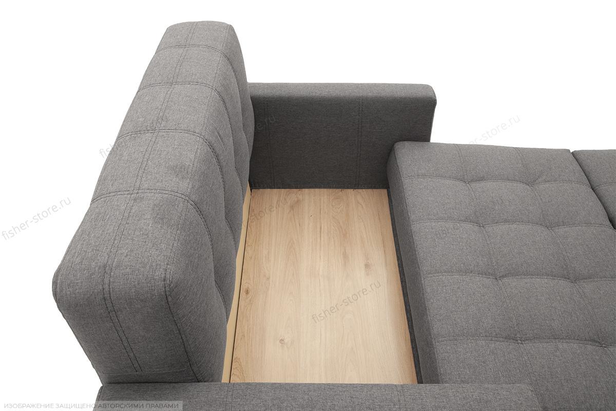 Прямой диван Этро люкс с опорой №3 Dream Grey Ящик для белья