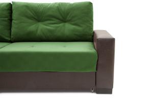 Прямой диван Хлоя Maserati Green + Sontex Umber Ножки