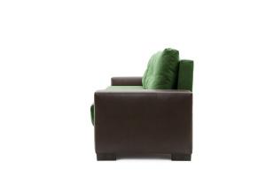 Прямой диван Хлоя Maserati Green + Sontex Umber Вид сбоку