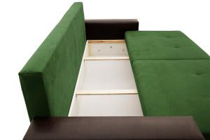Прямой диван Хлоя Maserati Green + Sontex Umber Ящик для белья