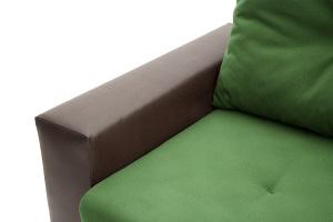 Прямой диван Хлоя Maserati Green + Sontex Umber Подлокотник