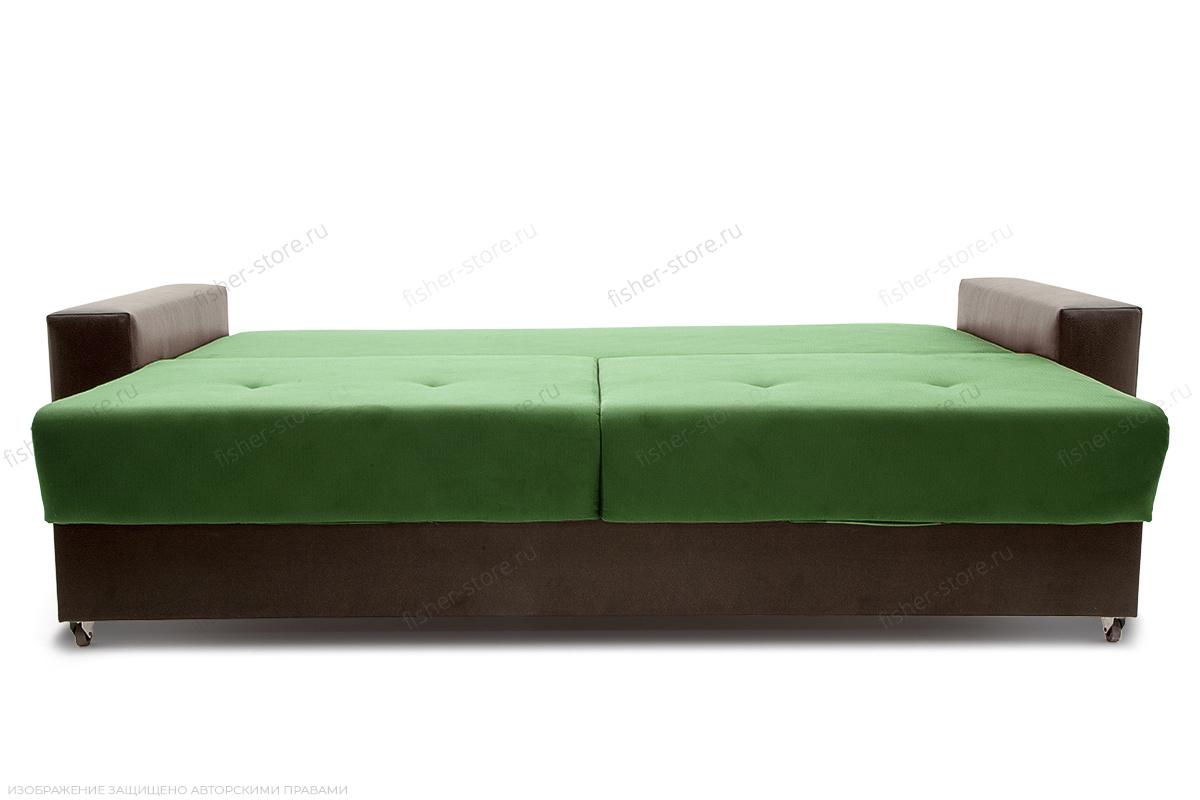 Прямой диван Хлоя Maserati Green + Sontex Umber Спальное место